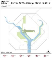 Twitter shutdown Metro map